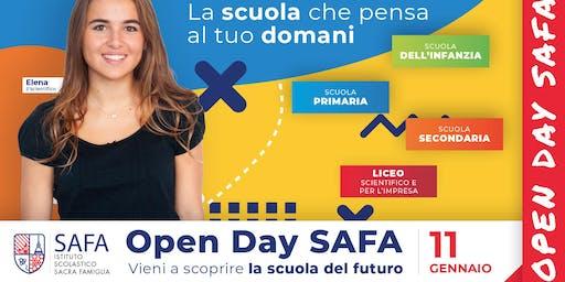 4° Open Day SAFA - La scuola che pensa al tuo domani