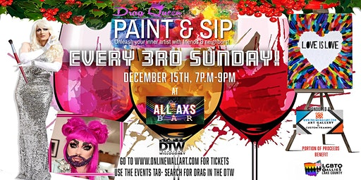 Monthly Sip & Paint with a Drag! Starring Peach Fuzz & Veranda L'Ni!