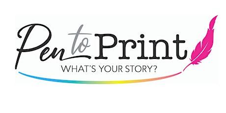Pen to Print: Jean Fullerton Creative Writing Workshop - 3 of 3 workshops tickets