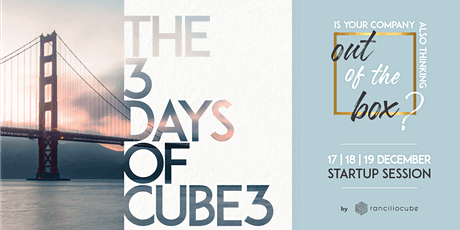 The 3 Days of Cube3 - STARTUP SESSION tickets