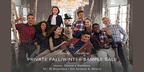 PRIVATE FALL/WINTER SAMPLE SALE BROOKS BROTHERS biglietti