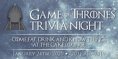 Game of Thrones Trivia Night!
