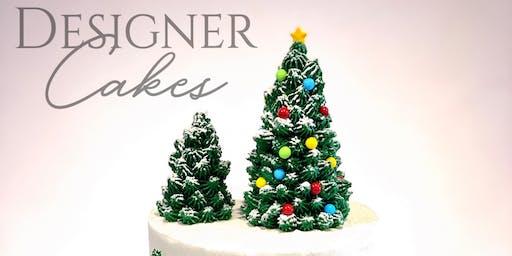 Wine & Holiday Cake Decorating