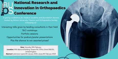 National Research and Innovation in Orthopaedics Conference 2020 tickets