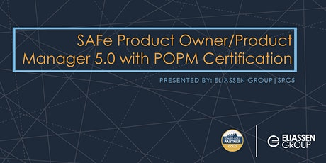 REMOTE DELIVERY - SAFe Product Owner/Product Manager 5.0 with POPM Certification - Raleigh - June tickets