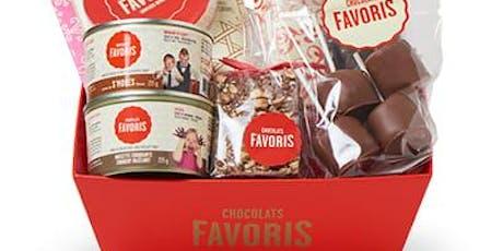 Panier cadeau de chocolat favoris billets