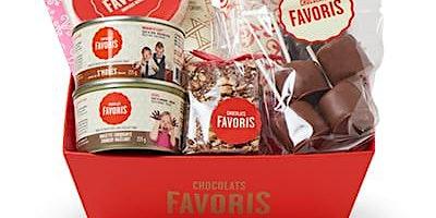 Panier cadeau de chocolat favoris
