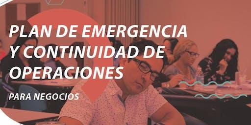 Plan de Manejo de Emergencia y Continuidad de Operaciones para Negocios