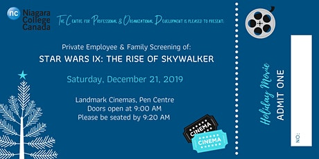 Niagara College Employee & Family Holiday Movie Event tickets