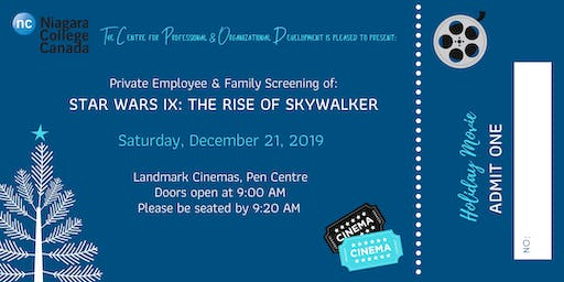 Niagara College Employee & Family Holiday Movie Event