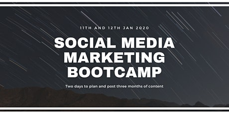 Social Media Bootcamp - 1 weekend to plan 3 months of content tickets