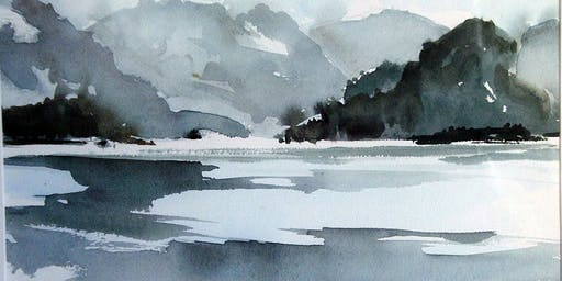 1 Day: Very Beginning, All the Basics Watercolor Workshop with Alex Sharma