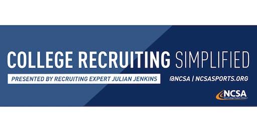College Sports Recruiting 101 Presented by Recruiting Expert Julian Jenkins