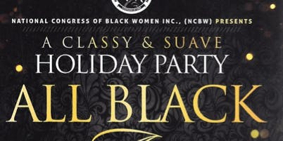 A Classy & Suave All Black Holiday Party