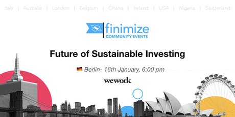 Finimize Community Presents: Future of Sustainable Investing tickets