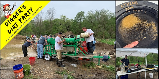 Digger's Dirt Party: Gold Mining Common Dig Outing at Athens Gold Camp, MI