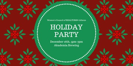 Women's Council of REALTORS Athens Holiday Party tickets