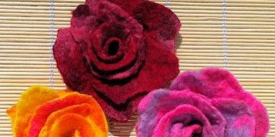 Felting - A Spring Bloom - Southwell Library - Community Learning