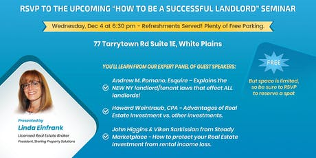 How to Be a Successful Landlord tickets