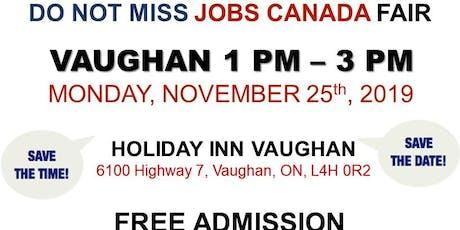 Vaughan Job Fair - November 25th, 2019 tickets