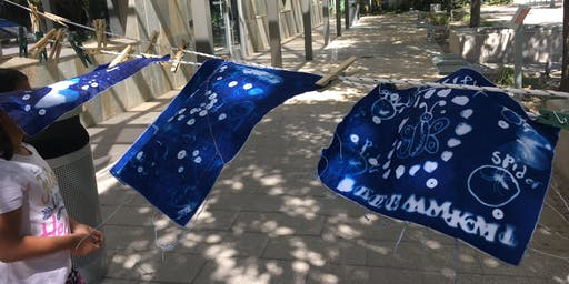 VISION KIDS - Found Object Cyanotypes, Afternoon