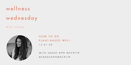 Wellness Wednesday by Sweaty Betty: How to go plant-based well tickets