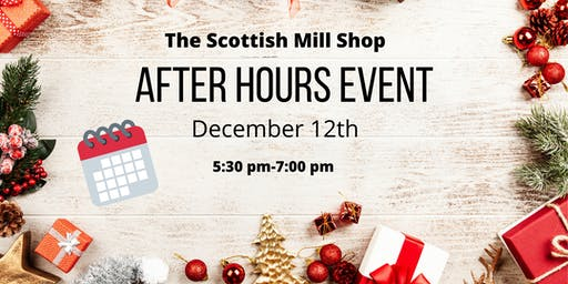 12 Days and Counting Holiday Shopping Happy Hour