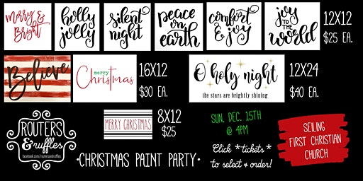 Seiling Christmas •Paint Party•