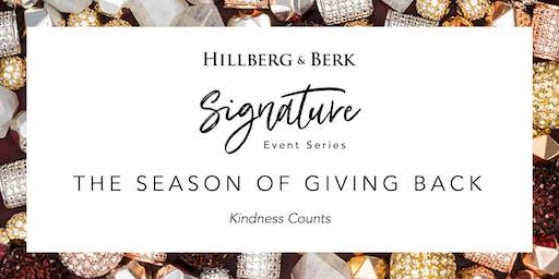 Hillberg & Berk Signature Event Series   The Season of Giving Back