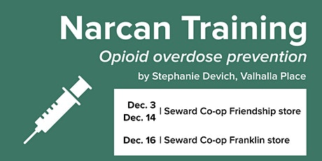 Opioid overdose prevention - Narcan Training with Valhalla Place tickets
