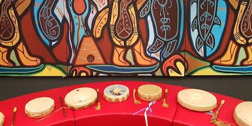 Spirit Wind Women's Hand Drum Group at Waakebiness-Bryce