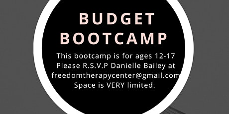 Budget Boot Camp for Teens tickets