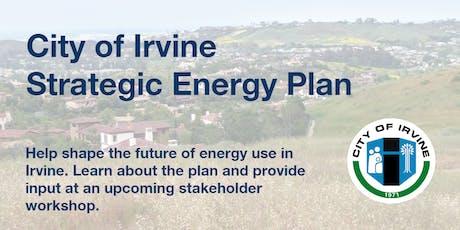City of Irvine Strategic Energy Plan Stakeholder Workshop #2 tickets