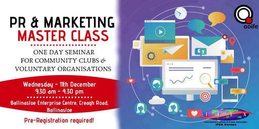 PR & Marketing Master Class - 1 Day Seminar for Not-For-Profits
