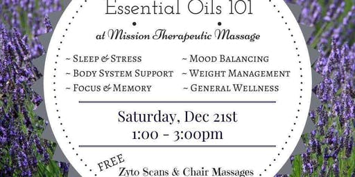 Essential Oils Holiday Workshop