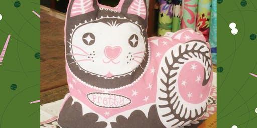 Pretty Kitty Cushion Beginner's Sewing Workshop