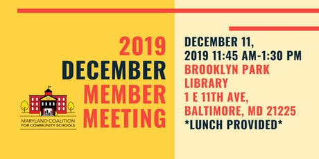 MD4CS December Member Meeting tickets
