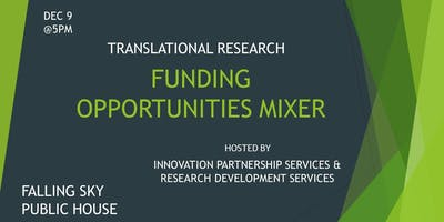 Translational Research Funding Opportunities Mixer