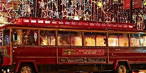 Karaoke Christmas Lights Trolley Tour + VanDusen Botanical Garden