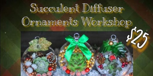 Succulent Diffuser Ornaments Workshop