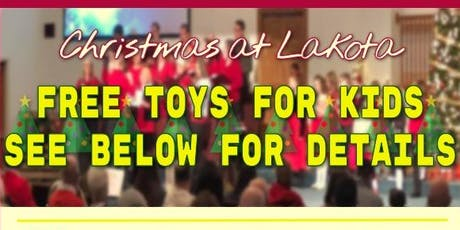 Christmas @Lakota: FREE Backpack for kids! FREE Toy inside each Backpack! tickets