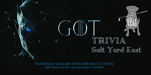 Game of Thrones Trivia at The Salt Yard East