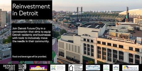 Reinvestment in Detroit- West tickets