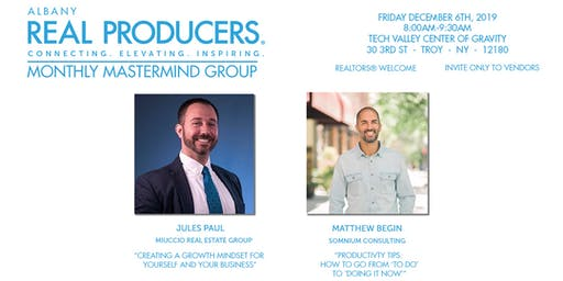 Albany REAL Producers Monthly Mastermind Group