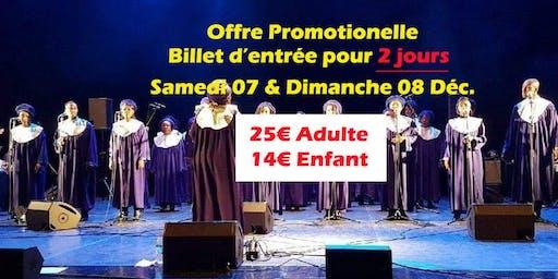 Billet accès 2 jours Concert Chérubins Gospel - sam 07 et dim 08 déc