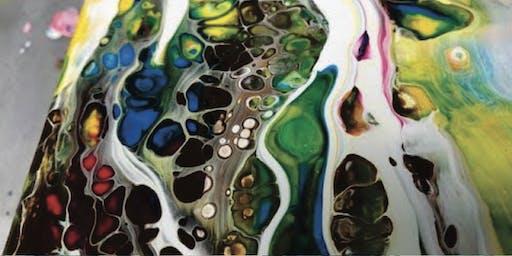 Explore the Pour l - Acrylic Pour Painting