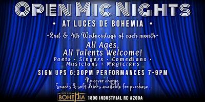 Open Mic Nights at Luces de Bohemia
