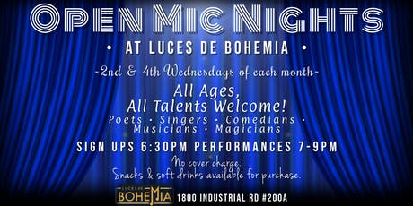 Open Mic Nights at Luces de Bohemia tickets