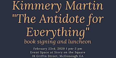 "Kimmery Martin present ""The Antidote for Everything"" book signing and lunch tickets"