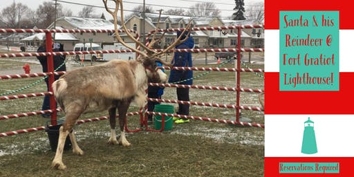 Santa and His Live Reindeer Visit the Lighthouse! (Reservations Required)
